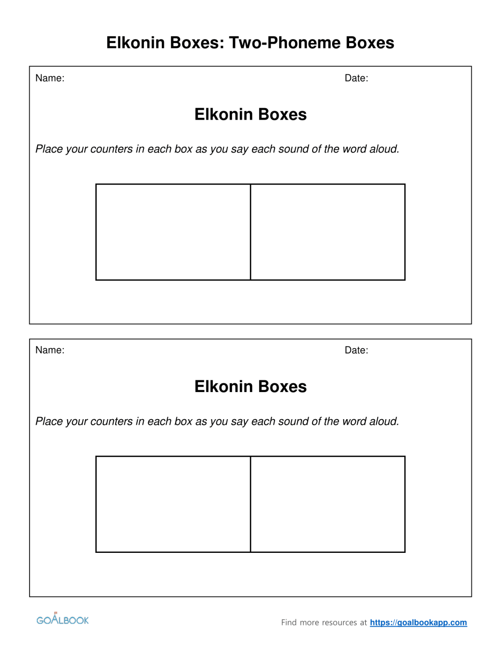 medium resolution of Segmenting Phonemes Worksheets   Printable Worksheets and Activities for  Teachers