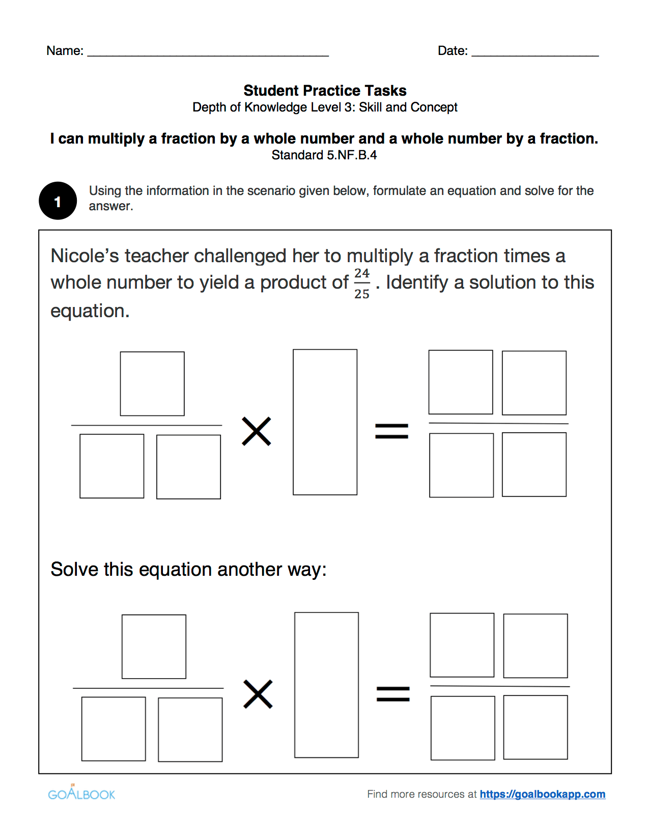 5 6 Word Problems With Fraction Multiplication