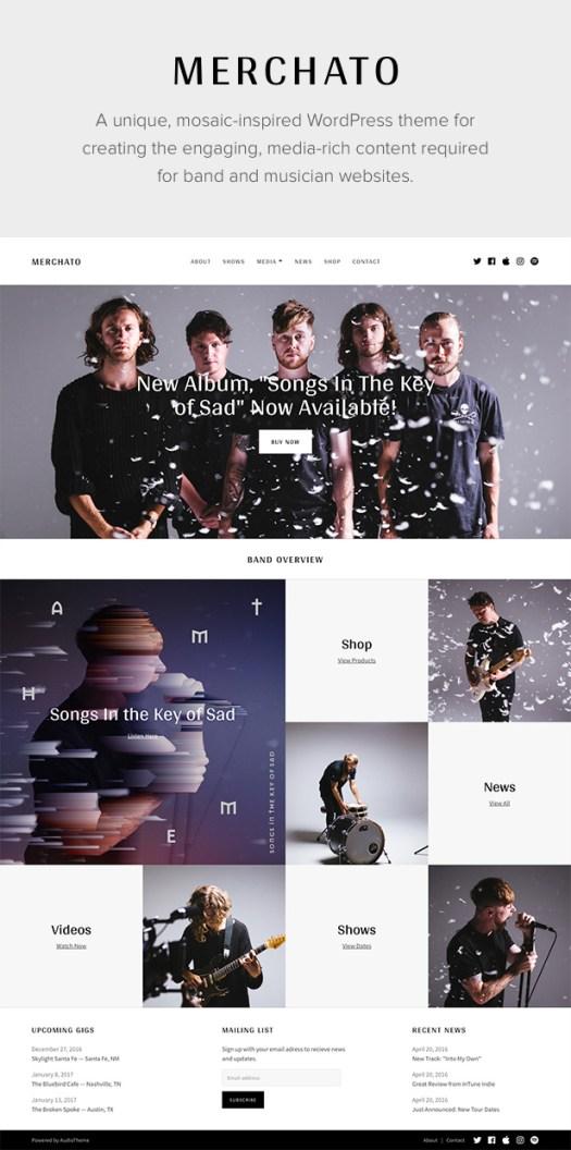 Merchato Music and Band WordPress Theme