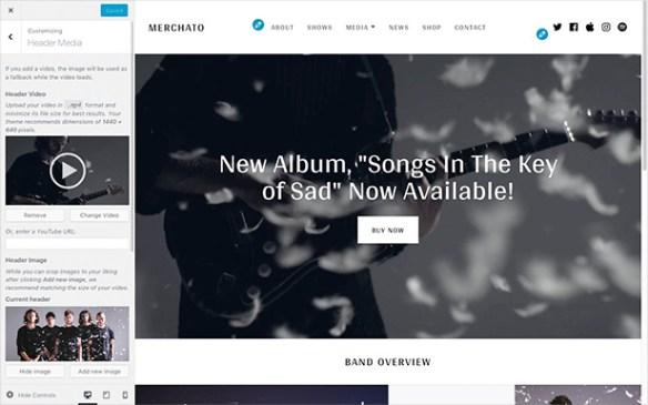 Merchato banner header layout