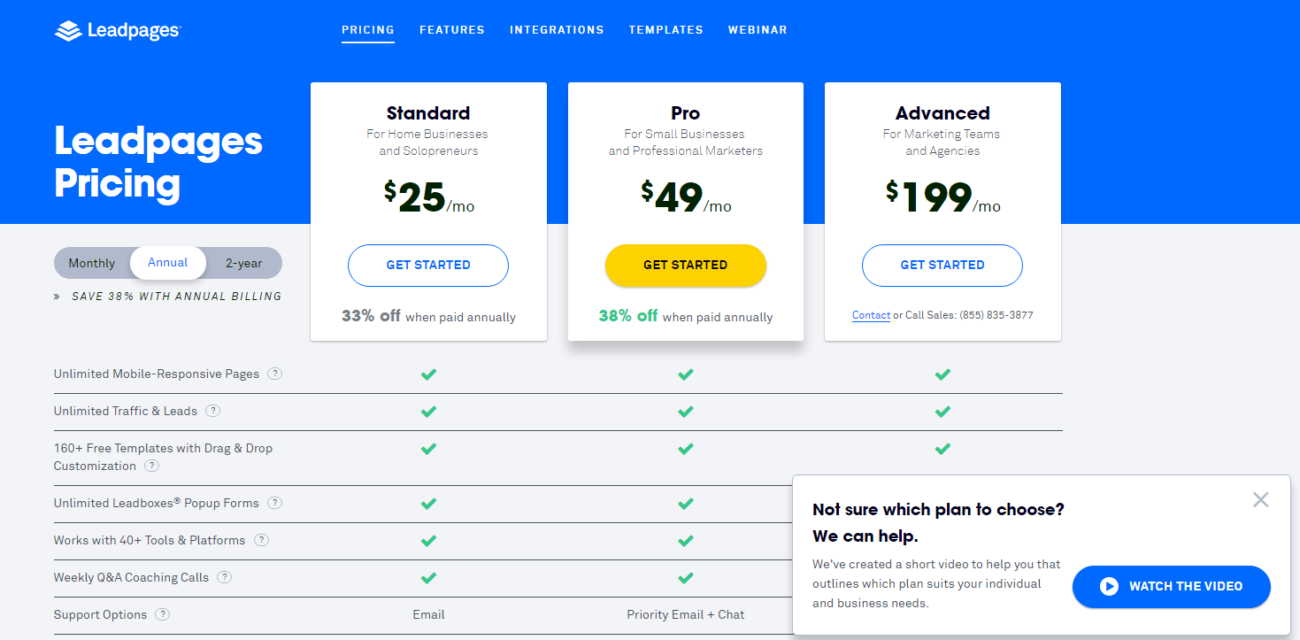 The Pricing Page Is Pretty Clear. The Features Presentation Feels A Little  Complex. I Like The Idea That They Have A Pricing Video.