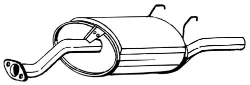 Bosal W0133-1610839 Exhaust Muffler
