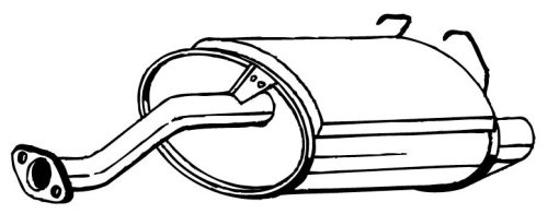 Bosal W0133-1611382 Exhaust Muffler