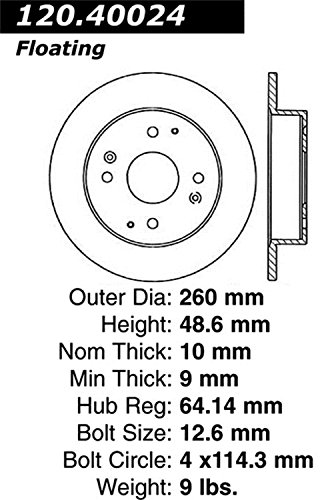 Stop Tech 127.40024L Sportstop Slotted and Drilled Brake
