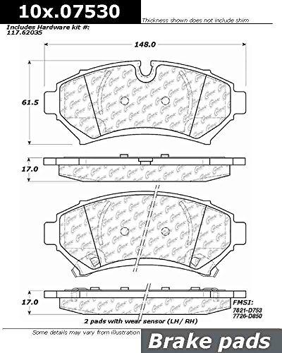 Centric (105.07530) Posi Quiet Brake Pad, Ceramic