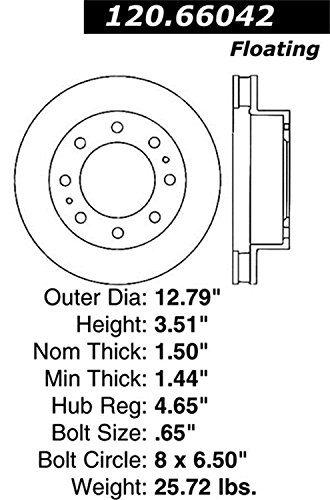 Stop Tech 128.66042L Sportstop Drilled Brake Rotor