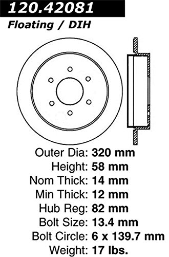Stop Tech 127.42081R Sportstop Slotted and Drilled Brake