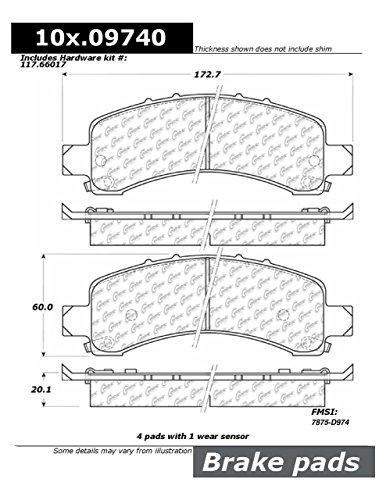 Centric (105.09740) Posi Quiet Brake Pad, Ceramic