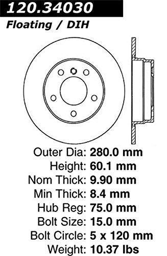 Stop Tech 128.34030L Sportstop Drilled Brake Rotor