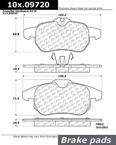 Centric (104.09720) Posi Quiet Brake Pad, Metallic