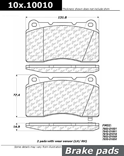 Centric (104.10010) Posi Quiet Brake Pad, Metallic