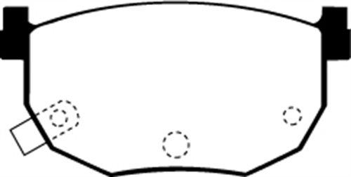 EBC Brakes DP3528C Redstuff Ceramic Low Dust Brake Pad