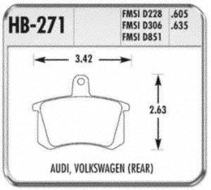 Hawk Performance HB271F.635 HPS Performance Ceramic Brake