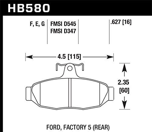 Hawk Performance HB580F.627 HPS Performance Ceramic Brake