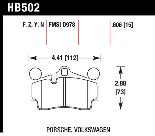 Hawk HB502B.606 Brake Pad (2007-2014 Audi Q7 Premium HPS 5