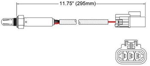 Walker Products 250-23523 3-Wire Oxygen Sensor