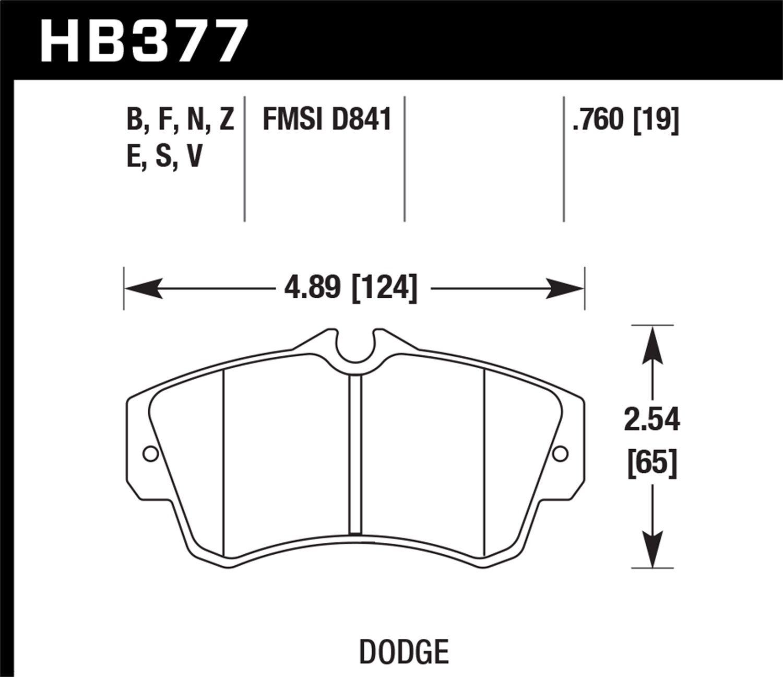 Hawk Performance HB377F.760 HPS Performance Ceramic Brake