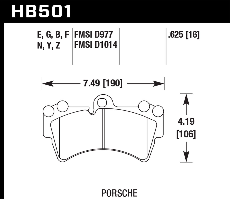 Hawk HB501B.625 Brake Pad (2007-2014 Audi Q7 Premium HPS 5