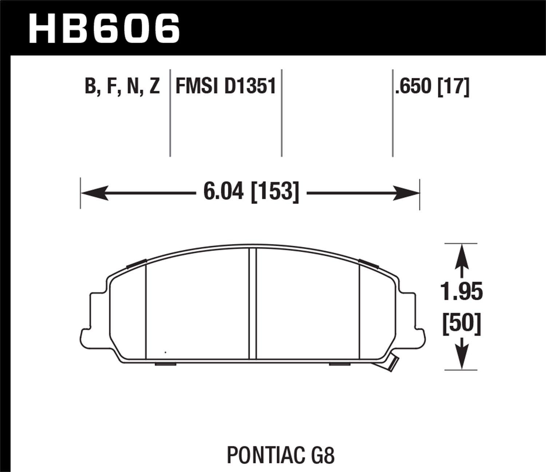 Hawk Performance HB606F.650 HPS Performance Ceramic Brake