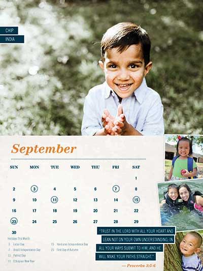 September 2018 Adoption Calendar