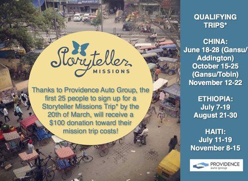 Storyteller Mission - PAG promo