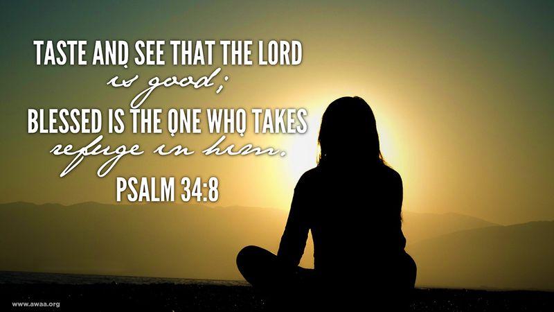 Psalm 34 8a