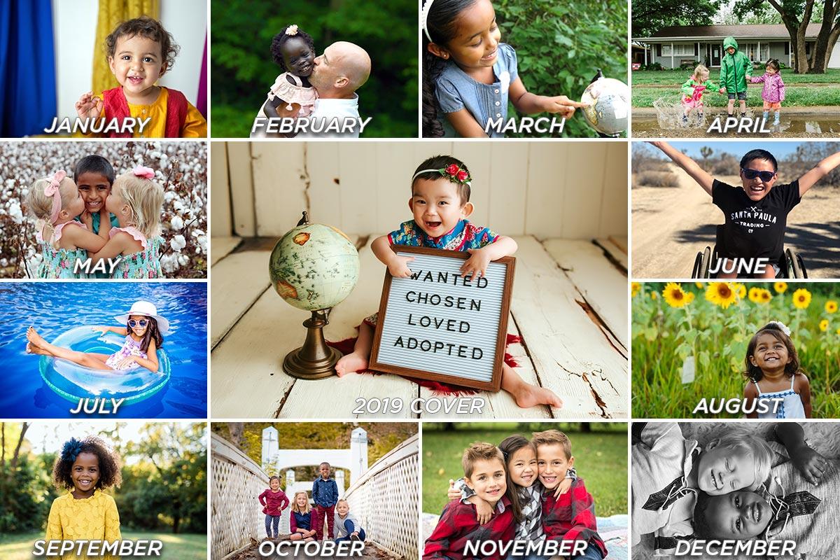 2019 Adoption Calendar