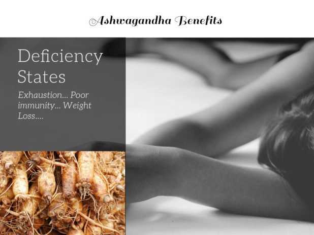 Thin woman lying down illustrates Ashwagandha benefits. It's useful for deficiency states, among other Ashwagandha benefits. Also important: Ashwagandha side effects, Ashwagandha dosage.