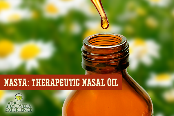 Nasya: Ayurvedic Herbal Nasal Oil