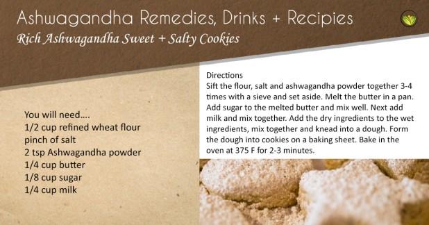 Rich ashwagandha cookies.