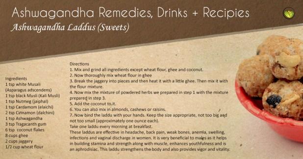 Ashwagandha laddus (sweets).