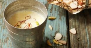 Saffron milk recipe, saffron milk benefits (kesar milk).