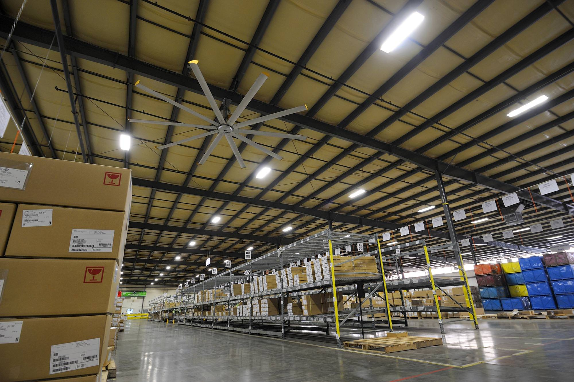 Warehouse Ceiling Fans from Big Ass Fans can Save You Up