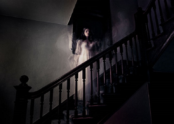 Ghost on staircase