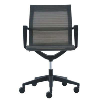 Kinetic Mesh Task Chair MT301-Front View Charcoal