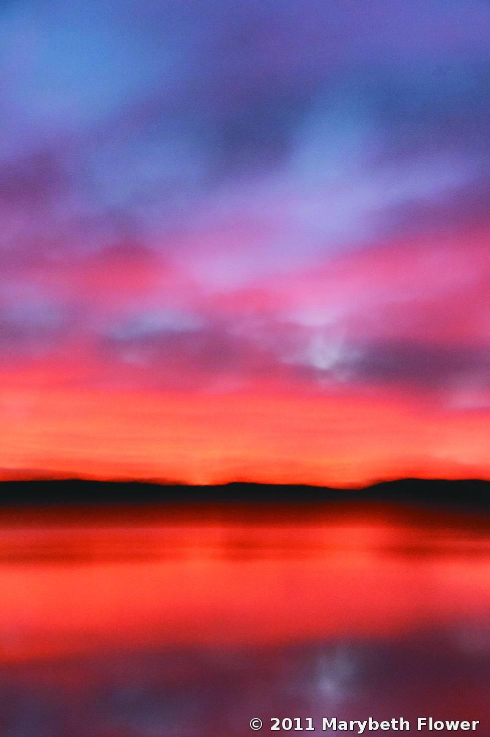 Red Sky Morning 1 Marybeth Flower Black & White