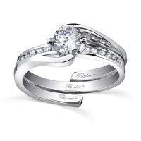 Barkev's White Gold Diamond Engagement Ring Set - 7493S
