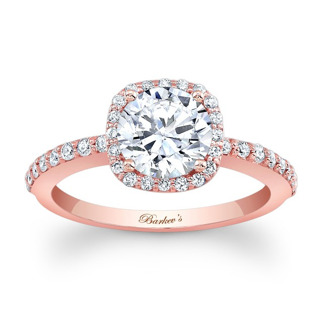 Barkev's Rose Gold Engagement Ring 7838LP