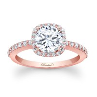 Barkev's Rose Gold Engagement Ring 7838LP