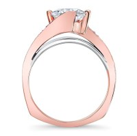 Barkev's Rose Gold Engagement Ring 7922LT