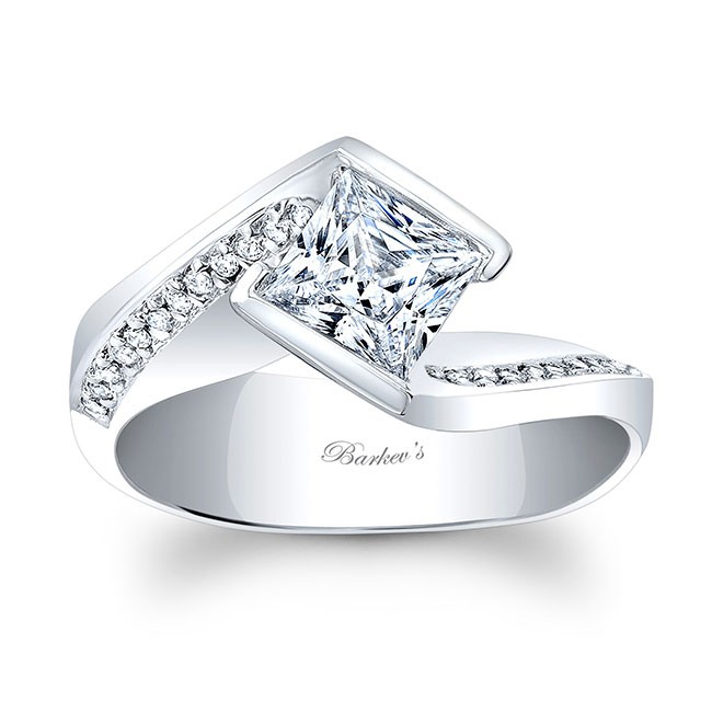 Barkevs Princess Cut Engagement Ring 8032L