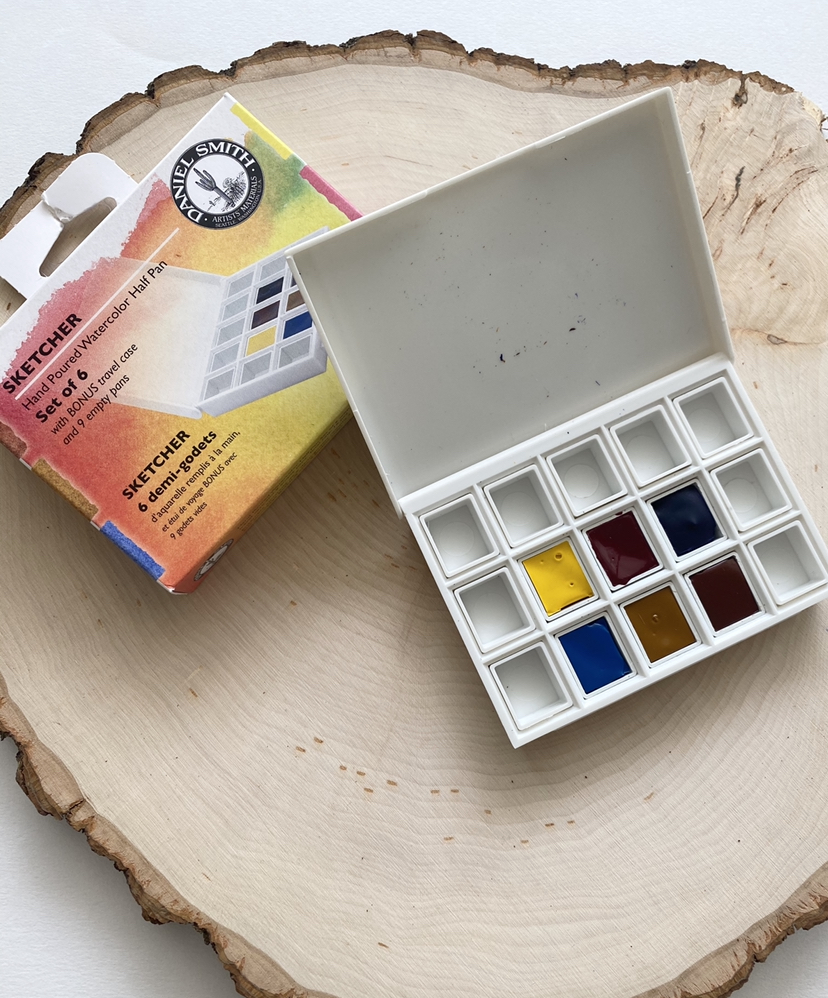 Daniel Smith Watercolor Palette : daniel, smith, watercolor, palette, Voertman's:, Daniel, Smith, Sketcher, 6-Color