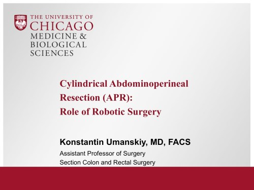 small resolution of cylindrical abdominoperineal resection apr role of robotic surgery broadcastmed