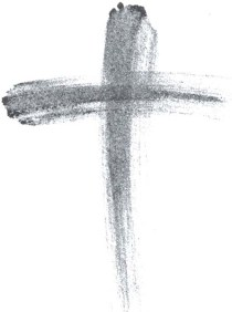 Ash Wednesday cross