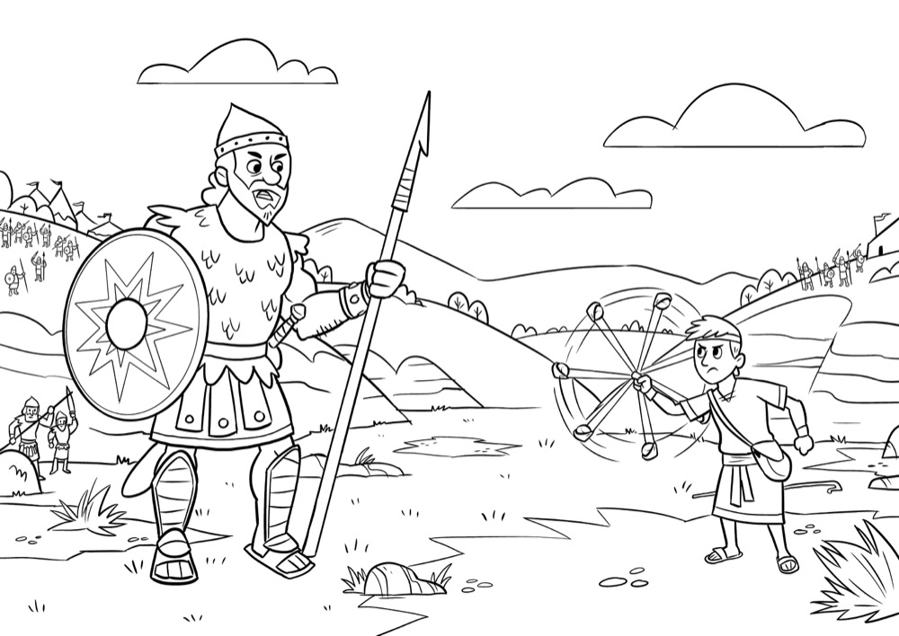 David and Goliath, Bible App for Kids Story, Stones