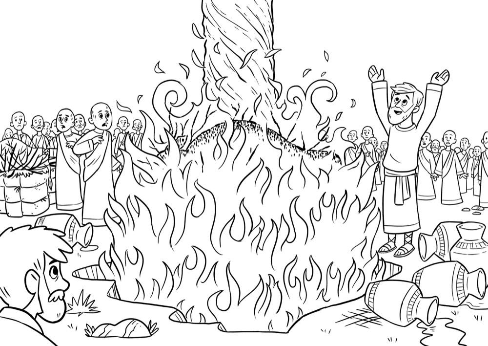 Elijah, Bible App for Kids Story, Fire From Heaven