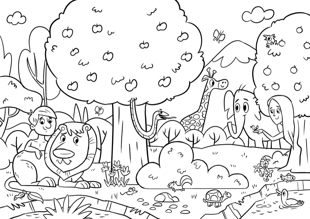 The First Sin Pages Coloring Pages