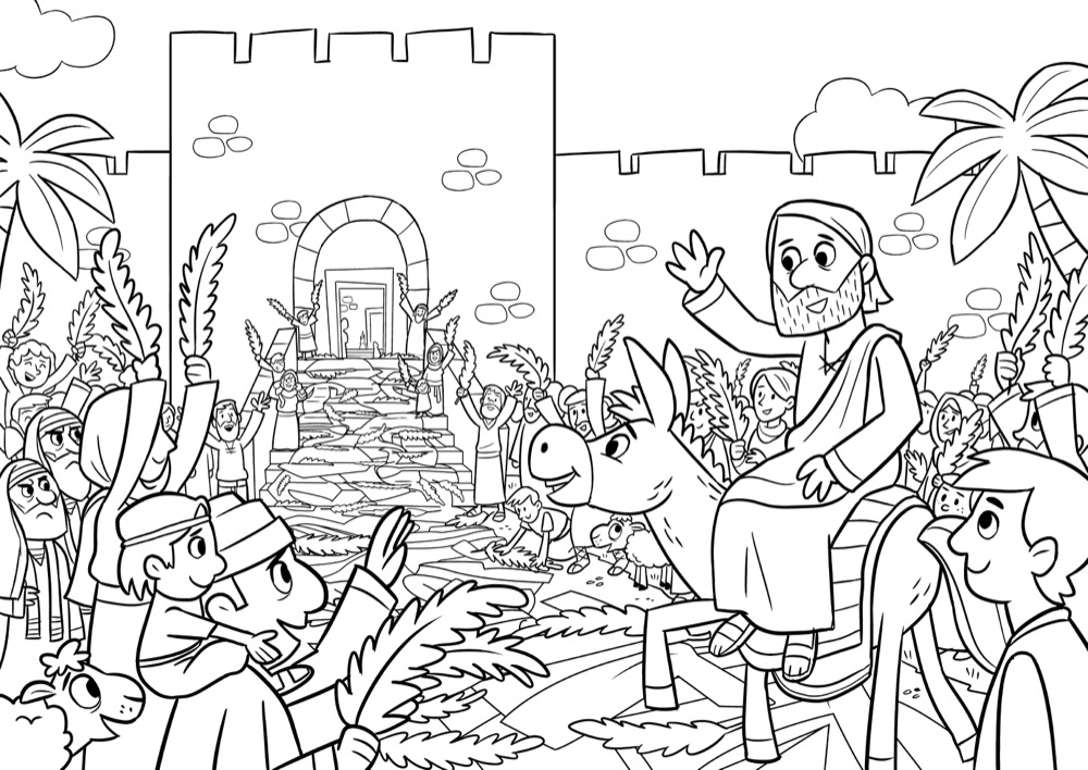The triumphal entry, Bible App for Kids Story, The Donkey
