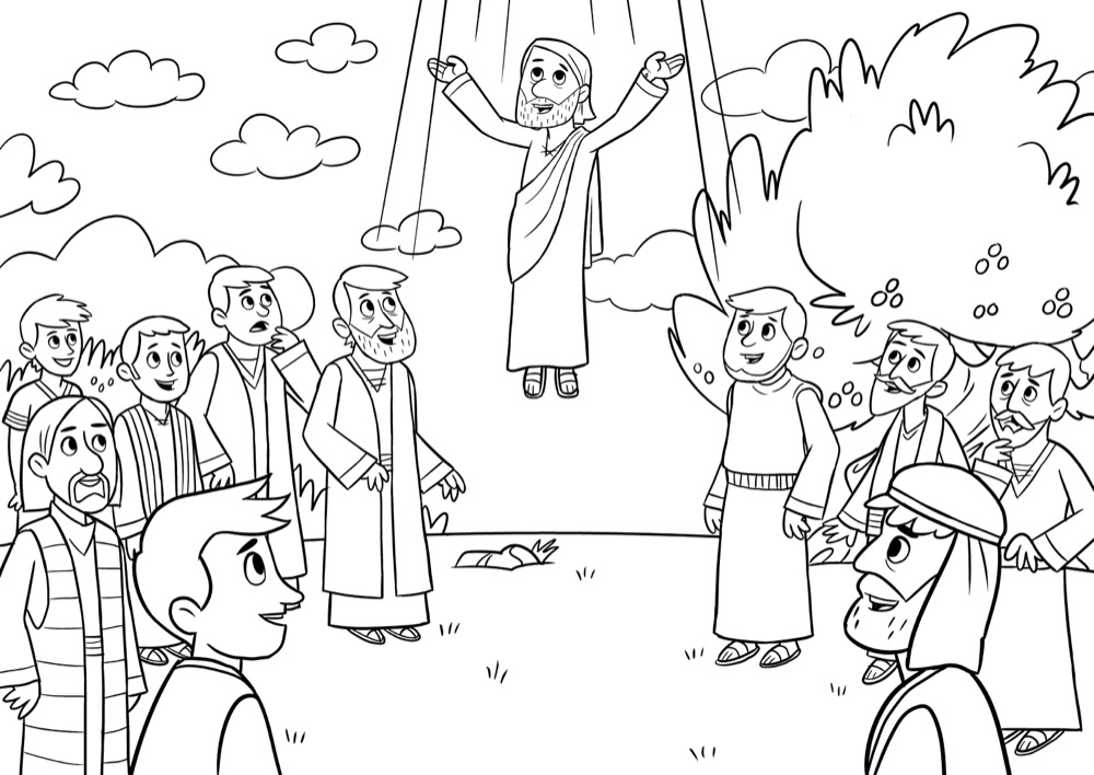 Jesus returns to heaven, Bible App for Kids Story, Into