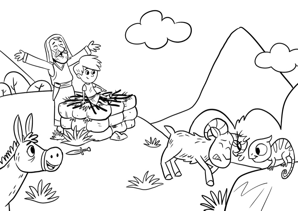 Abraham and Isaac, Bible App for Kids Story, Abraham's Big
